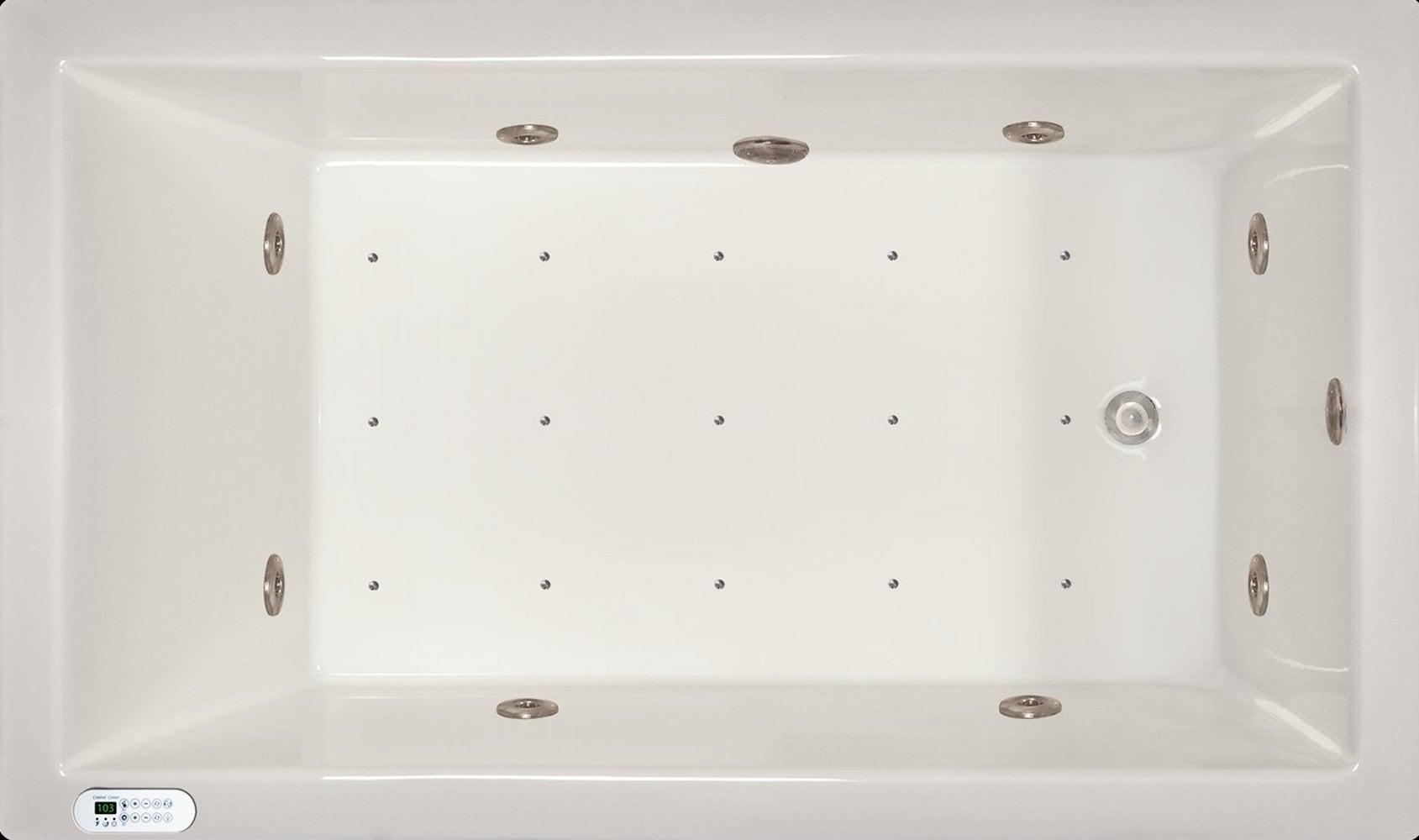 Drop-in Bathtub / 72x42x18 / high gloss white acrylic / Rectangle / LPI228-C-LD Pinnacle Bath - Air/Whirlpool Combo 0
