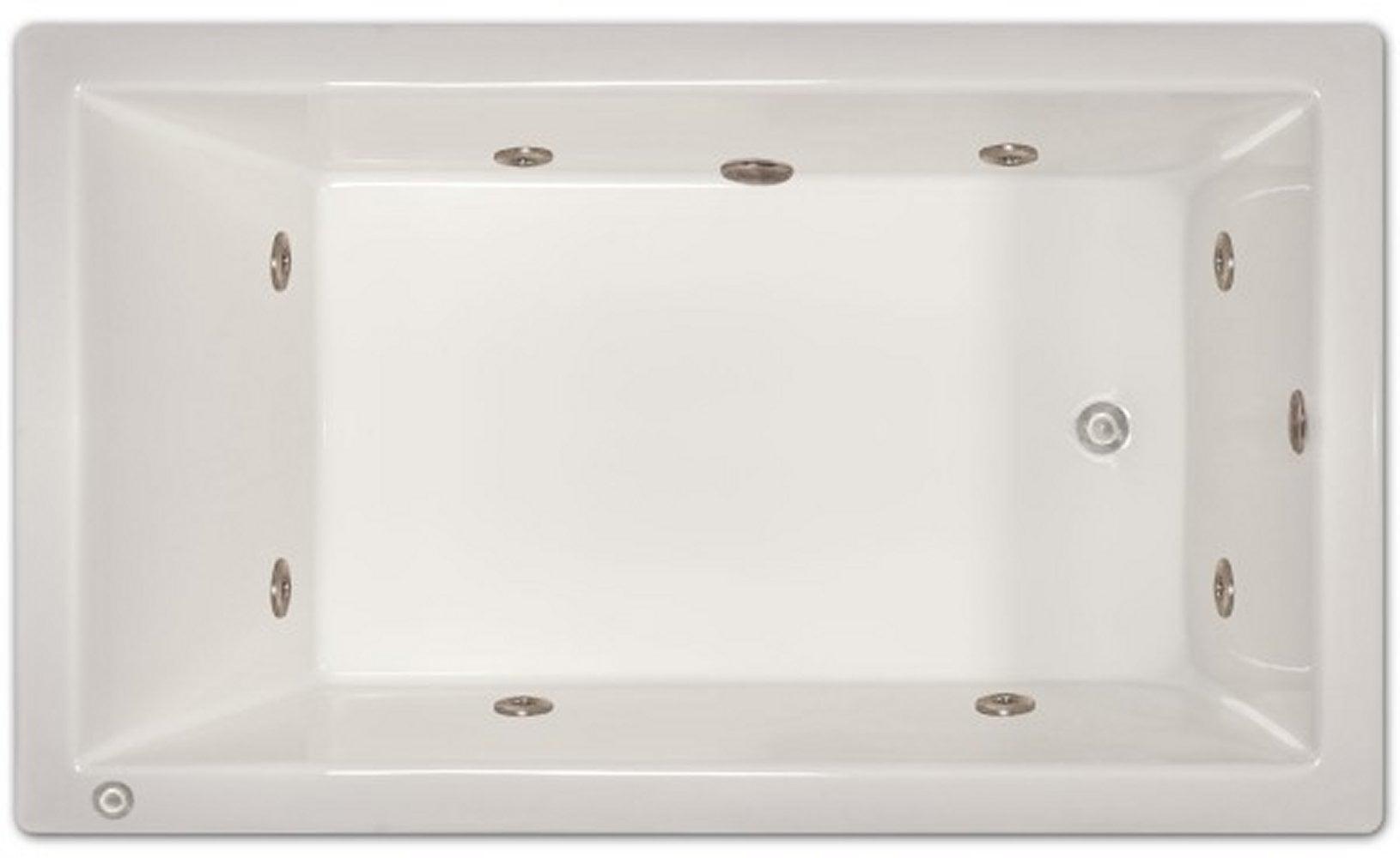Drop-in Bathtub / 72x42x18 / high gloss white acrylic / Rectangle / LPI228-W-LD Pinnacle Bath - Whirlpool 0