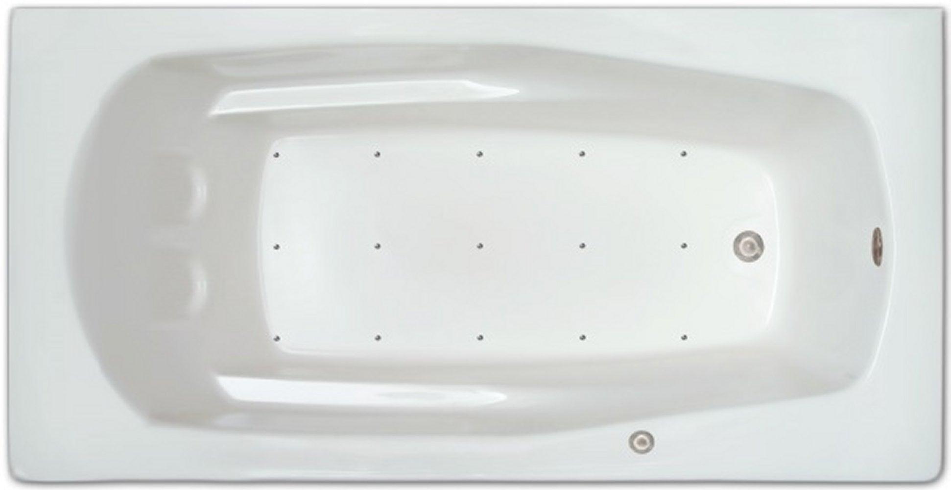 Drop-in Bathtub / 71x36x17 / high gloss white acrylic / Rectangle / LPI229-A-RD Pinnacle Bath - Air Bath 0