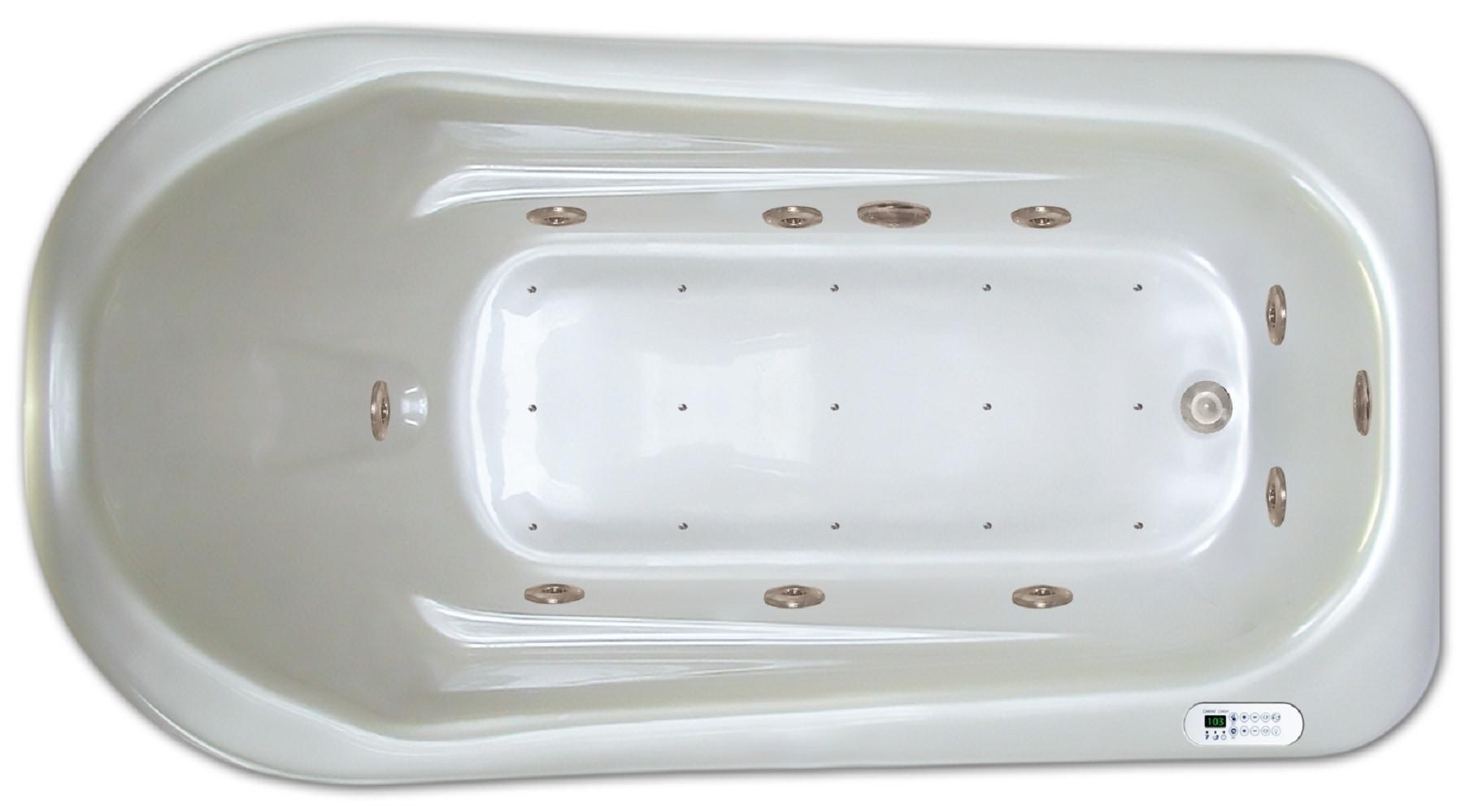 Drop-in Bathtub / 72x36x18 / high gloss white acrylic / Rectangle / LPI279-C-RD Pinnacle Bath - Air/Whirlpool Combo 0