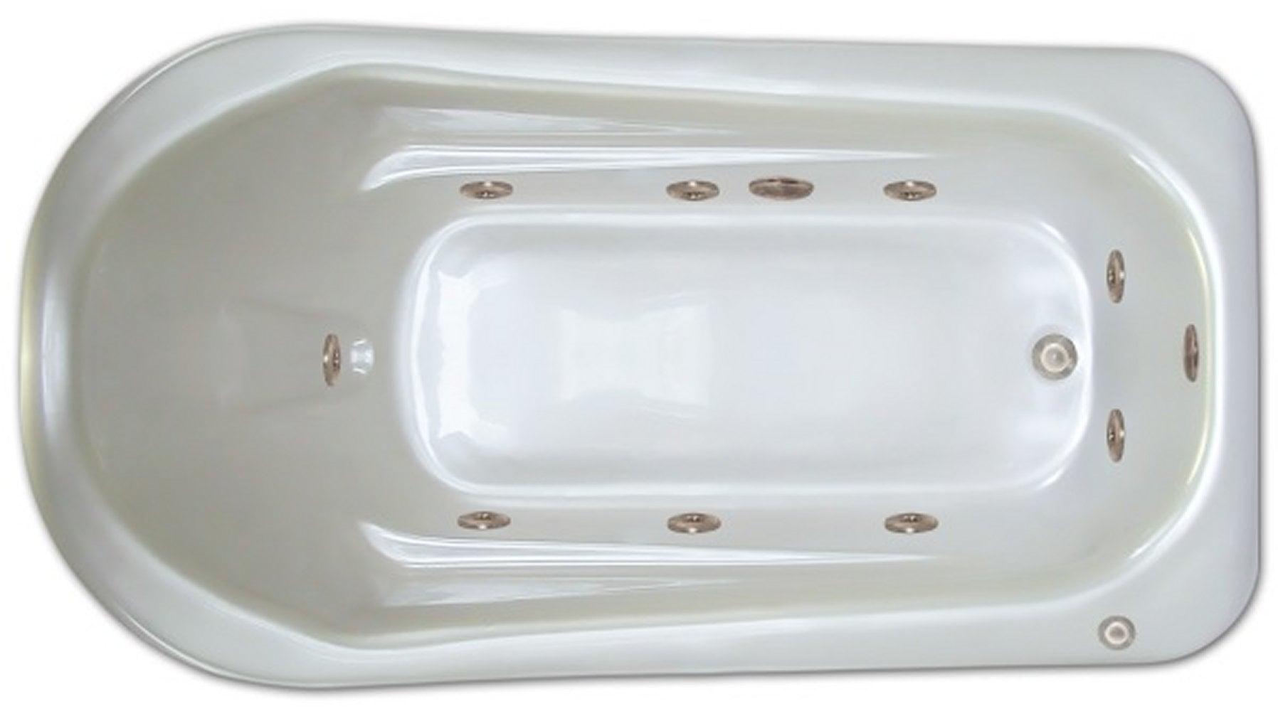 Drop-in Bathtub / 72x36x18 / high gloss white acrylic / Rectangle / LPI279-W-RD Pinnacle Bath - Whirlpool 0