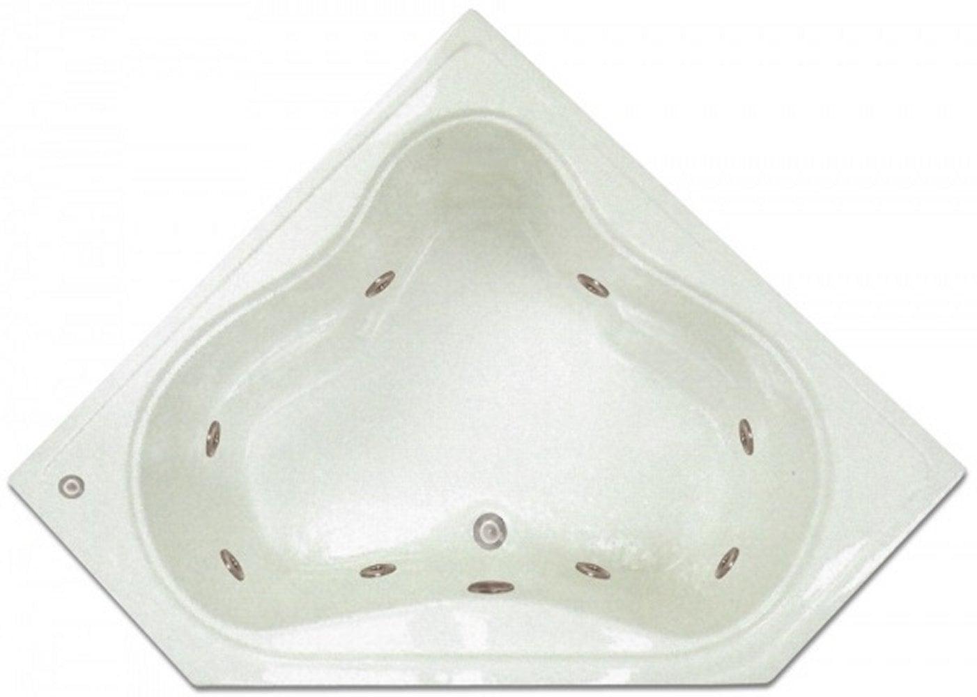 Drop-in Bathtub / 53.75x22.75x17.5 / high gloss white acrylic / Corner / LPI303-W Pinnacle Bath - Whirlpool 0