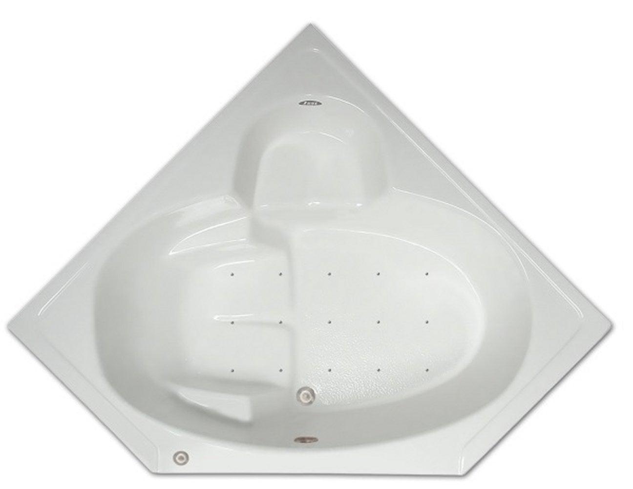 Drop-in Bathtub / 60x31.5x18.5 / high gloss white acrylic / Corner / LPI305-A Pinnacle Bath - Air Bath 0