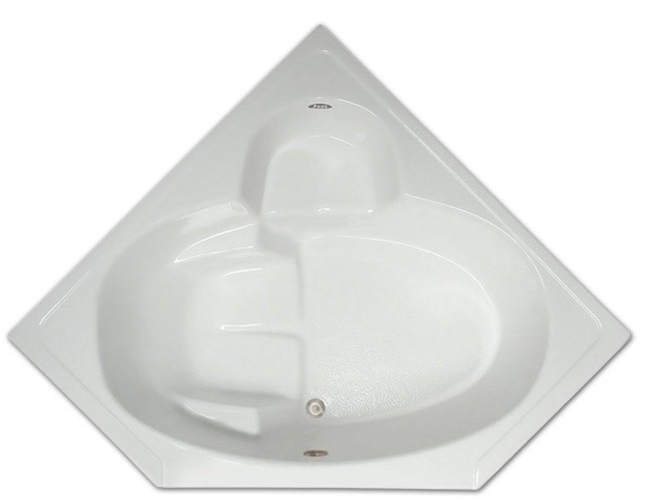 Drop-in Bathtub / 60x31.5x18.5 / high gloss white acrylic / Corner / LPI305-S Pinnacle Bath - Soaker 0