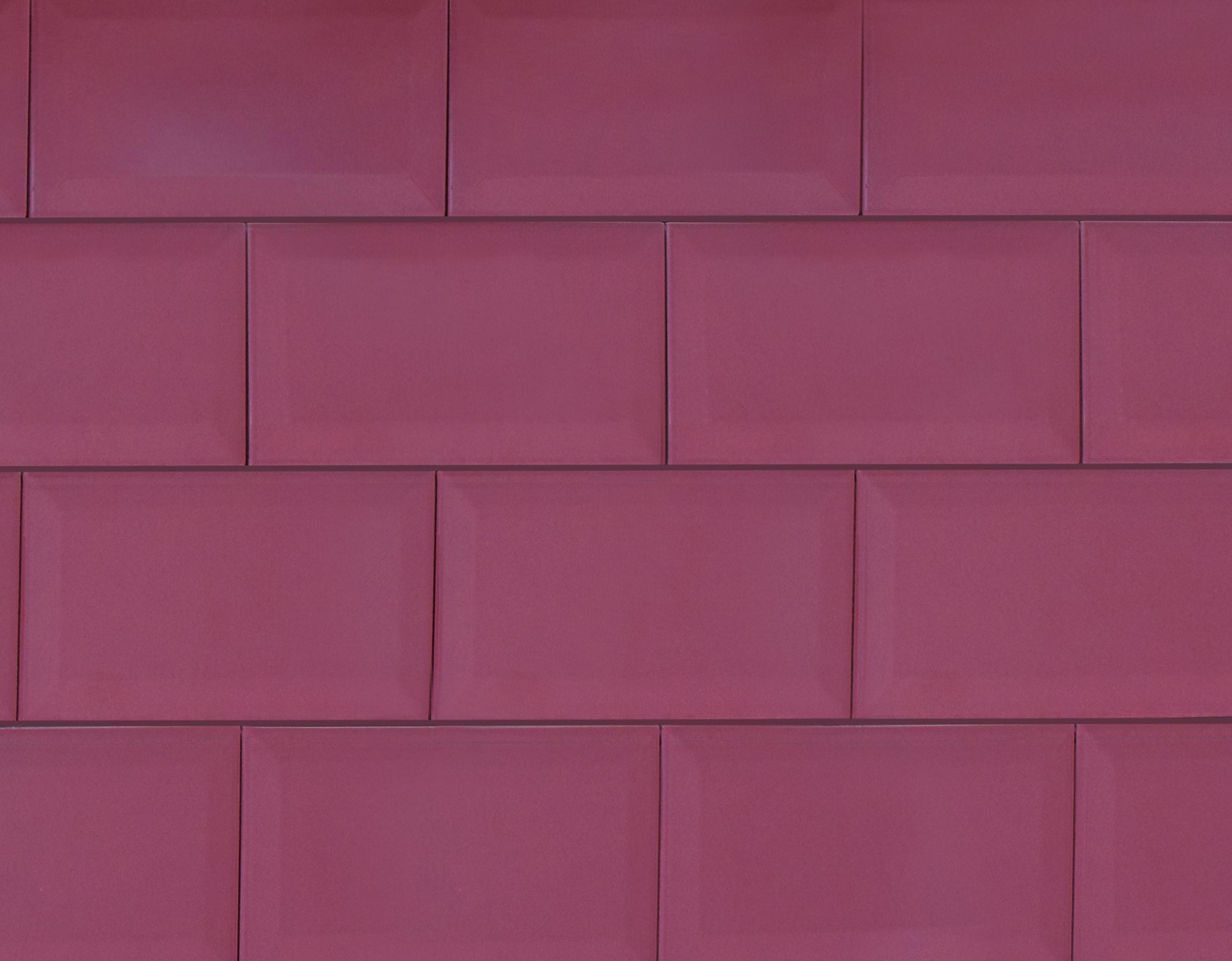 """4"""" x 8"""" / Glazed / Wine Subway Tile / Metro Tile - Beveled 0"""
