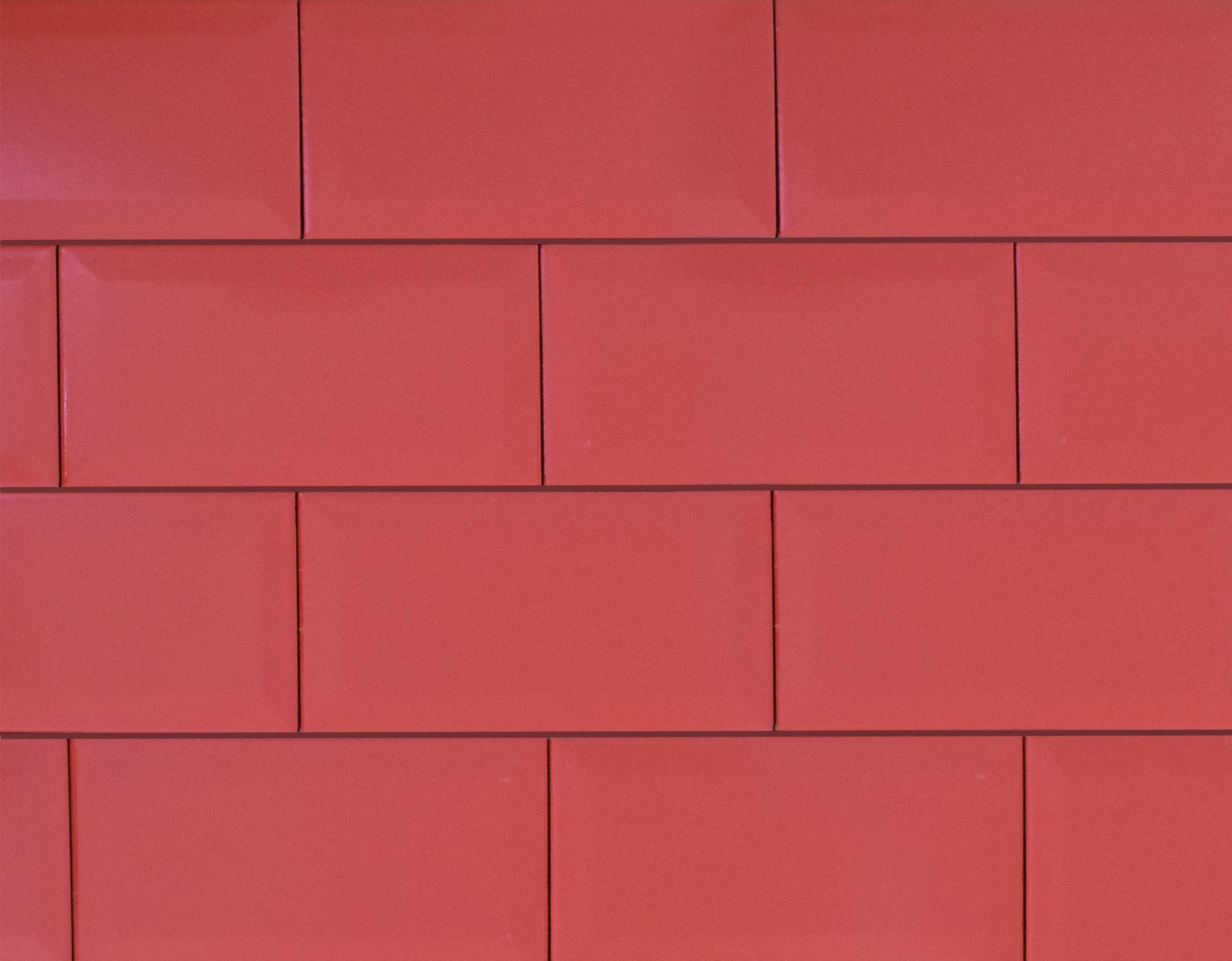 """4"""" x 8"""" / Matte / Red Subway Tile / Metro Tile - Beveled 0"""