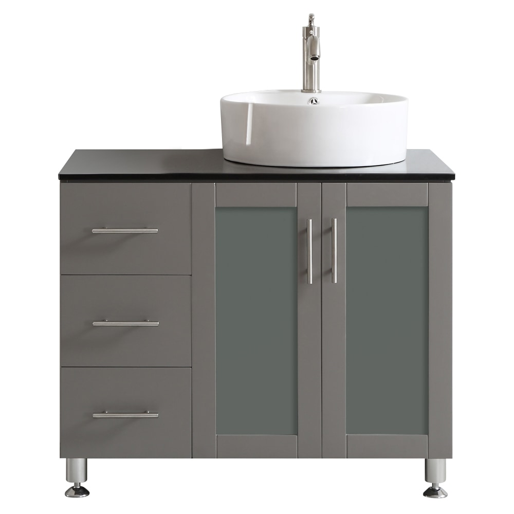 Vinnova Vinnova Bathroom Vanities Tuscany Collection 36 Inches Without Mirror Gray