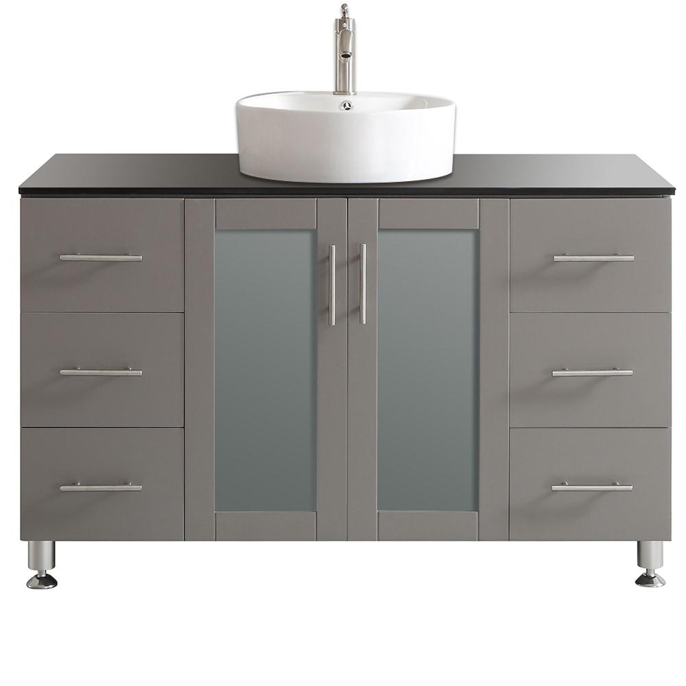 Vinnova vinnova bathroom vanities tuscany collection 48 inches mirrorless gray for Tuscan bathroom vanity cabinets