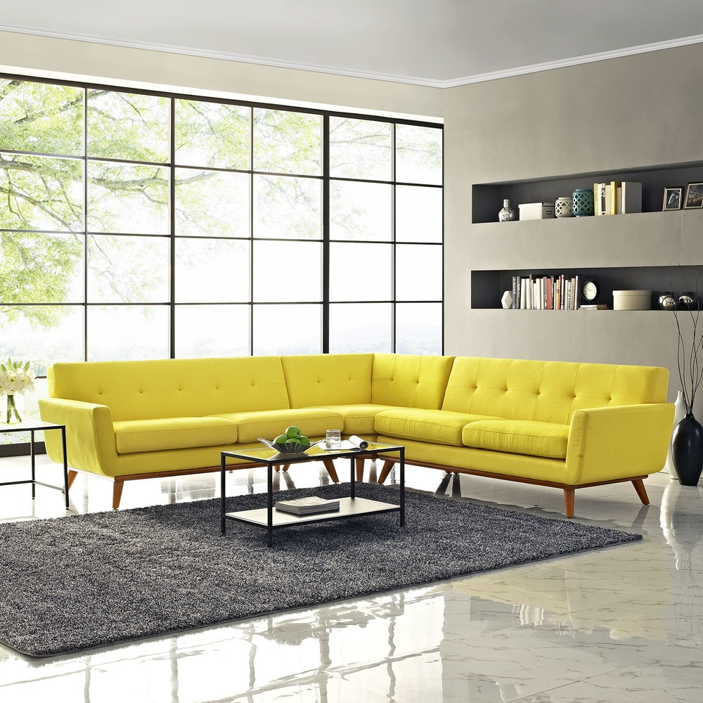 Modway Engage L Shaped Sectional Sofa Sunny EEI 2108