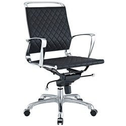 Modway - Vibe Mid Back Leather Office Chair