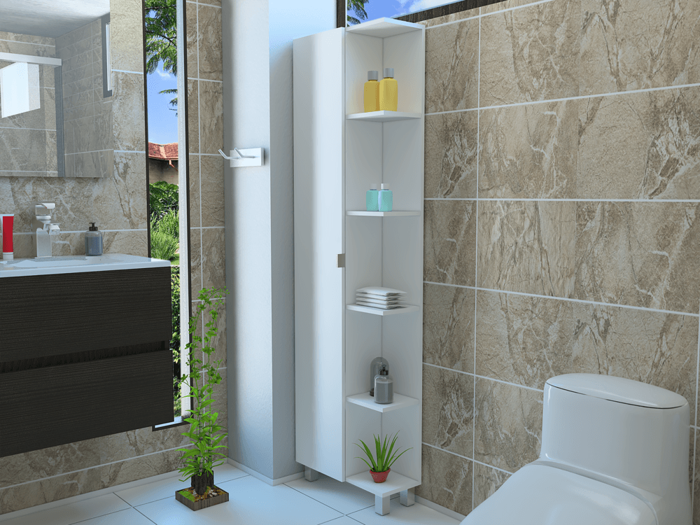 RTA Design Tall Corner Bathroom Cabinet Tall Corner