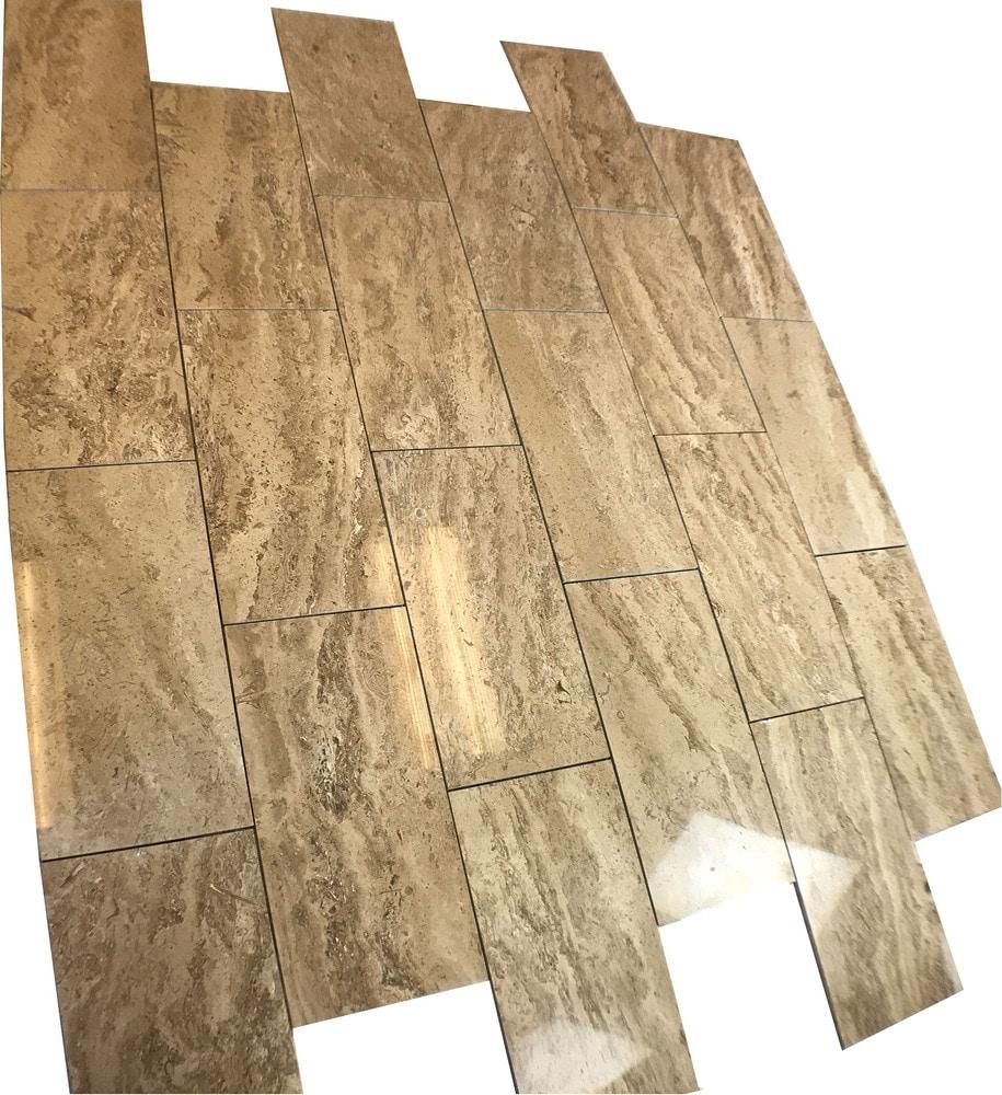 Ayyildiz Marble Mocha Vein Cut Travertine Polished 12\