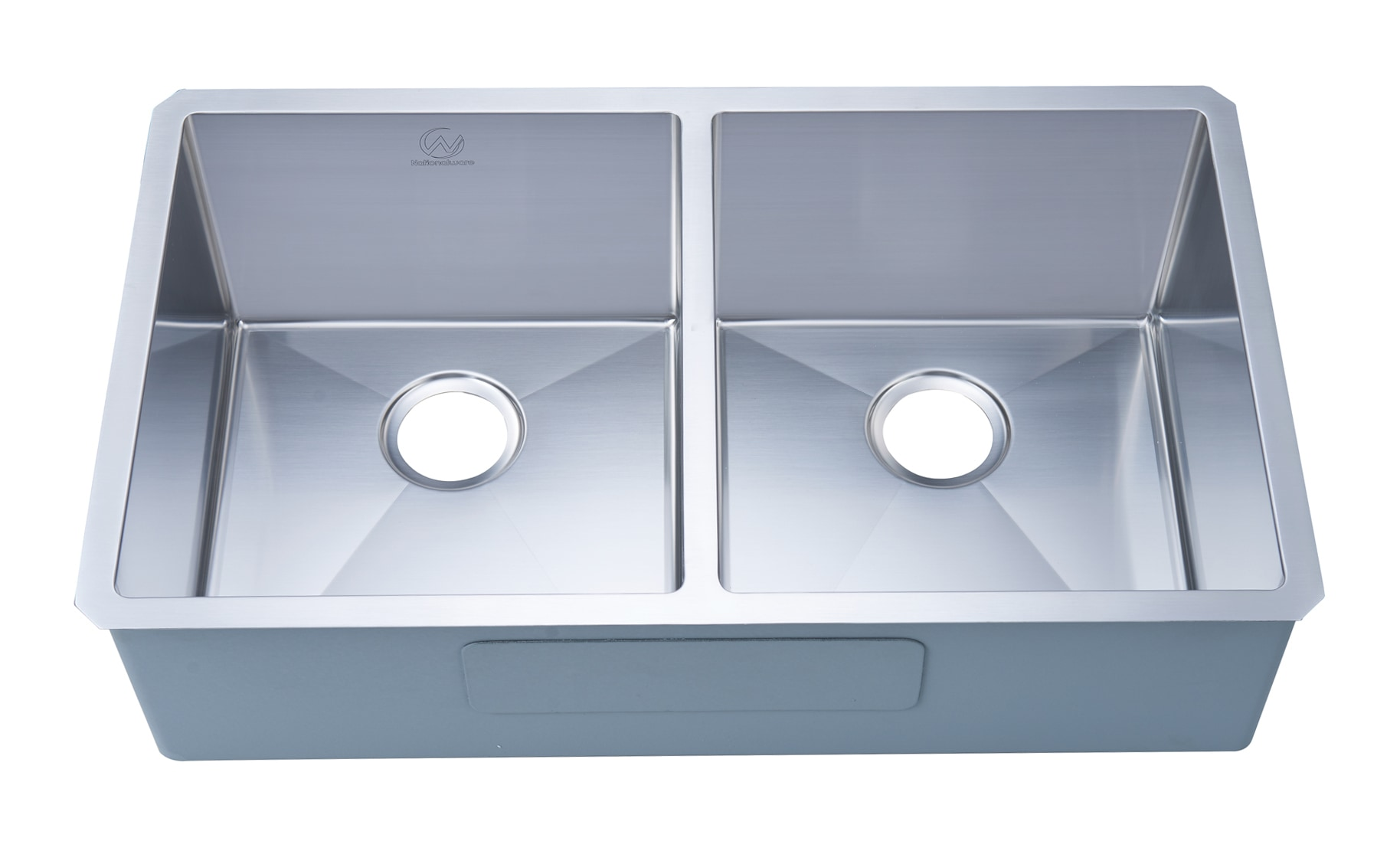 Nationalwares Undermount Stainless Steel 33 In Double Bowl Kitchen
