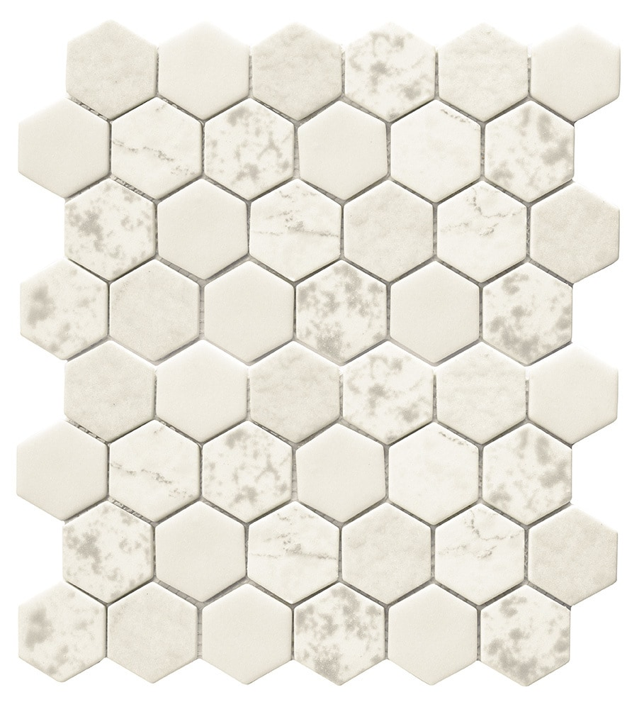 Tiles and Deco HEXAGON GLASS MOSAIC WITH TEXTURE GLASS MOSAIC ...
