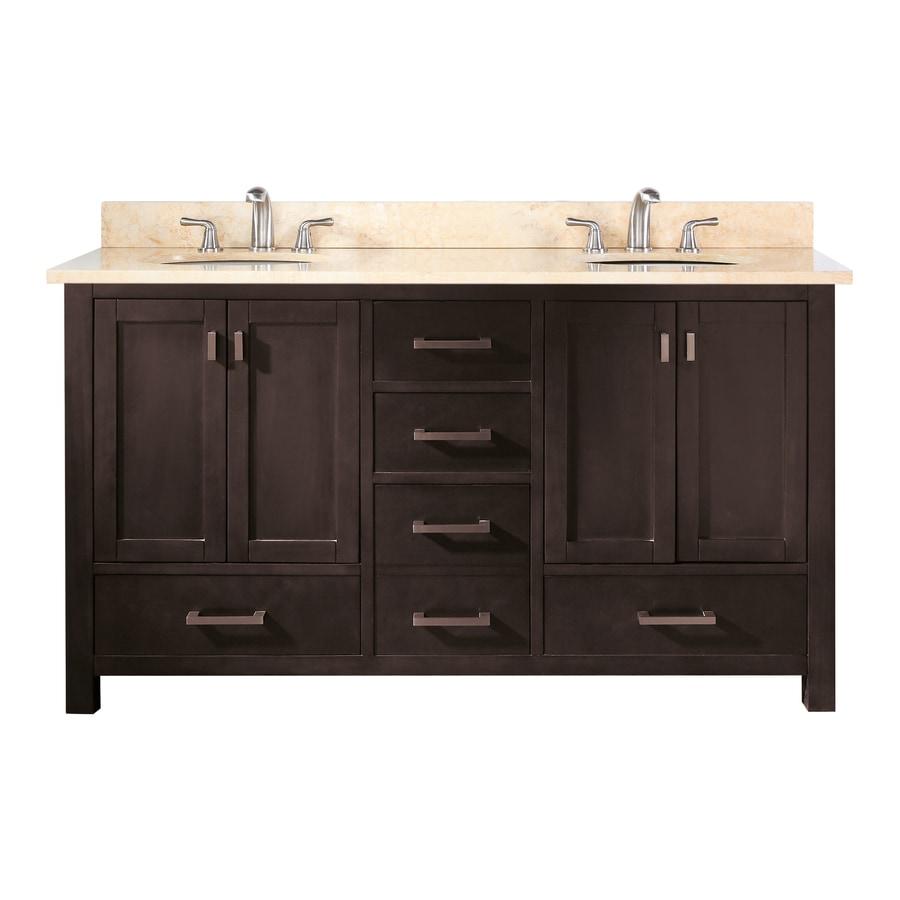 Bathroom Counter And Sink Combo: Avanity Modero 60 In. Double Vanity Combo Galala Beige