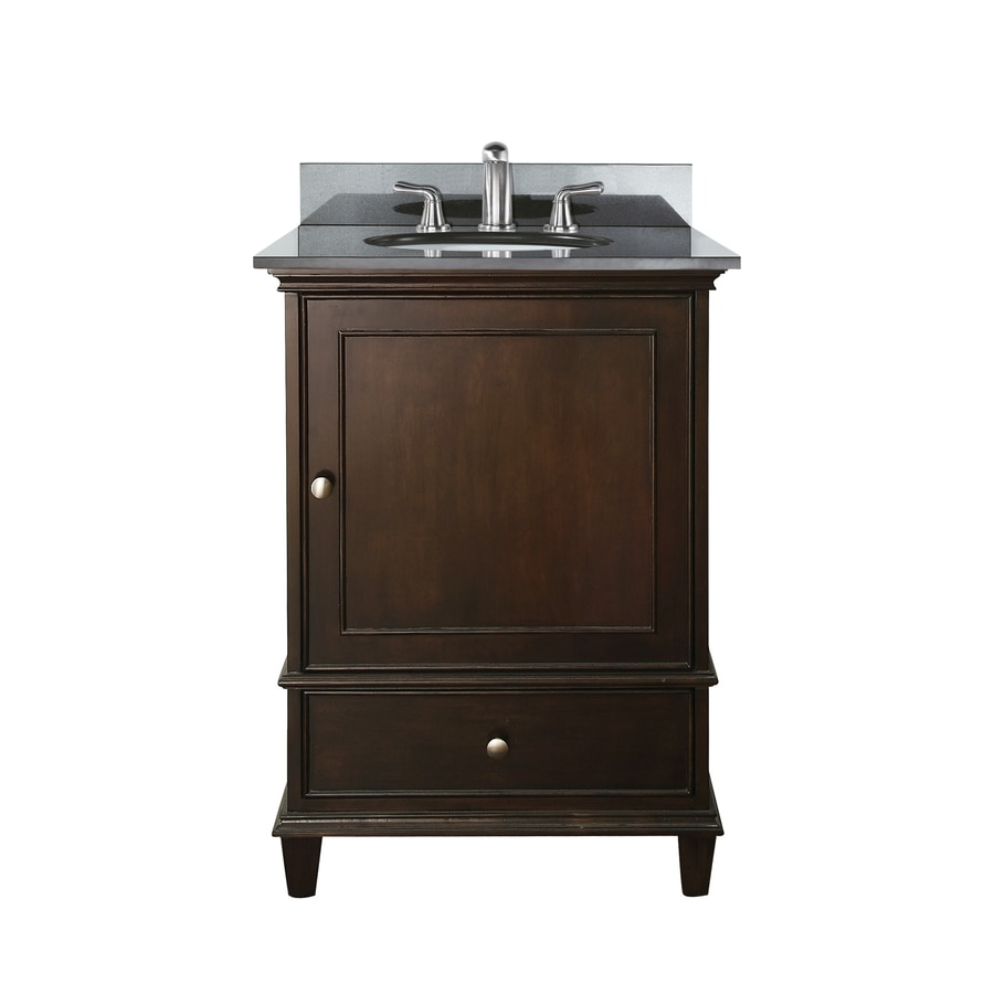 Avanity windsor 24 in vanity combo black granite top an 24 bathroom vanity with granite top