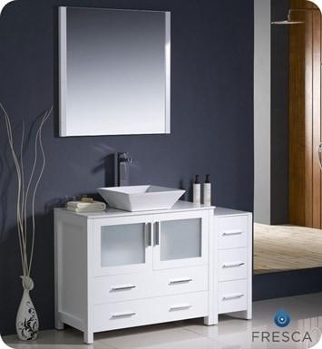 "Fresca Torino 48"" Modern Bathroom Vanity with Side"