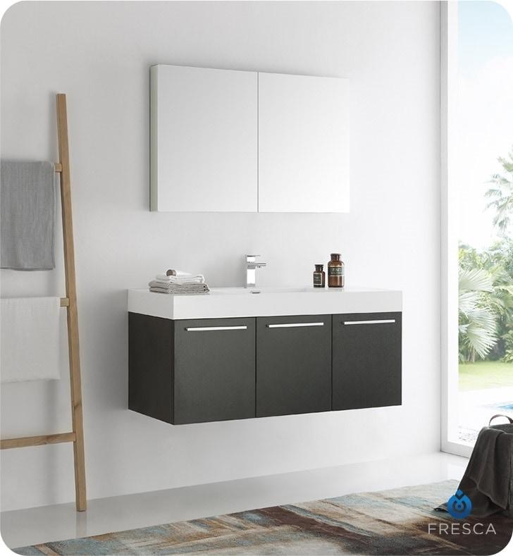 48 Medicine Cabinet Adorable Fresca Vista 60 Wall Hung Modern Bathroom Vanity With Medicine