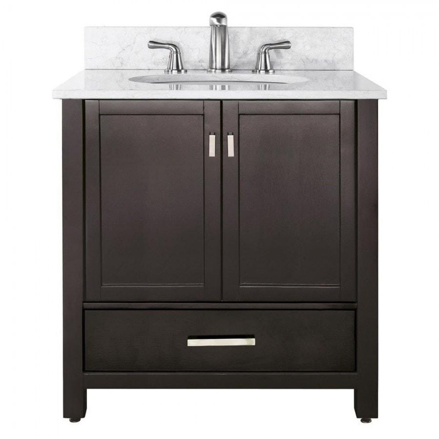 Bathroom Counter And Sink Combo: Avanity Modero 36 In. Vanity Combo Black Granite Counter