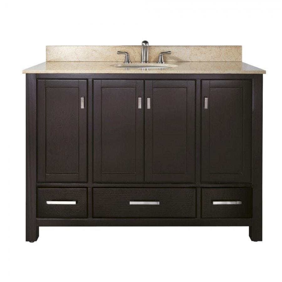 Bathroom Counter And Sink Combo: Avanity Modero 48 In. Vanity Combo Galala Beige Marble