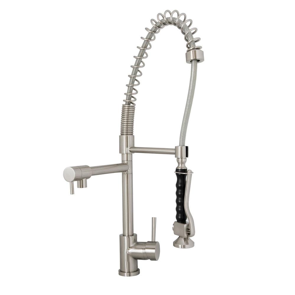Virtu Usa Torlan Brushed Nickel Single Handle Faucet Spring Sprout