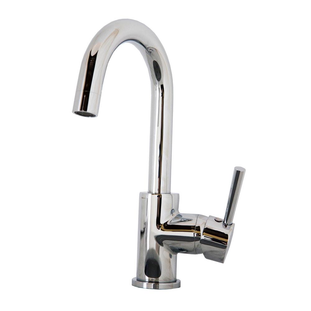 Virtu USA Lithios Polished Chrome Single Handle Faucet Gooseneck ...