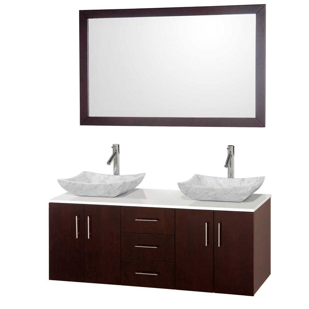Wyndham Collection Arrano 55 Double Bathroom Vanity Set