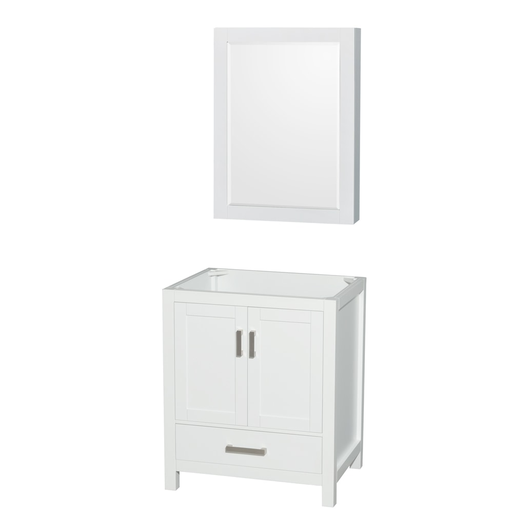 Wyndham Collection Sheffield 30 Inch Single Bathroom Vanity With Medicine Cabinet Countertop