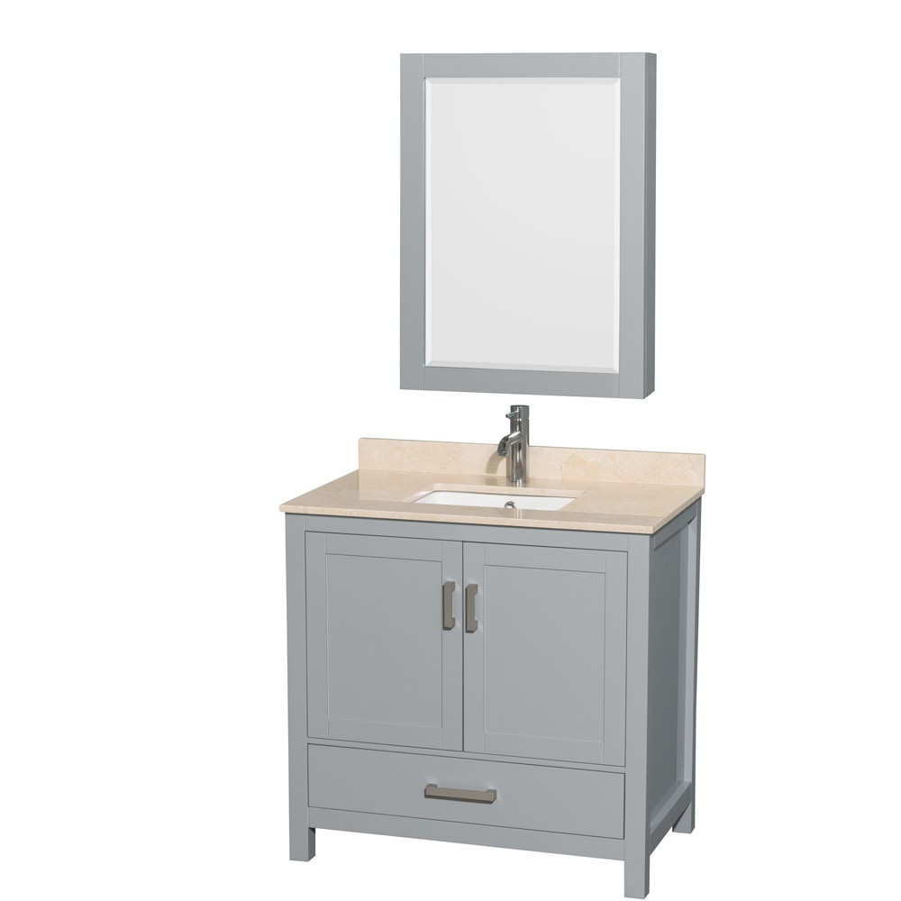 Wyndham Collection Sheffield 36 Single Bathroom Vanity