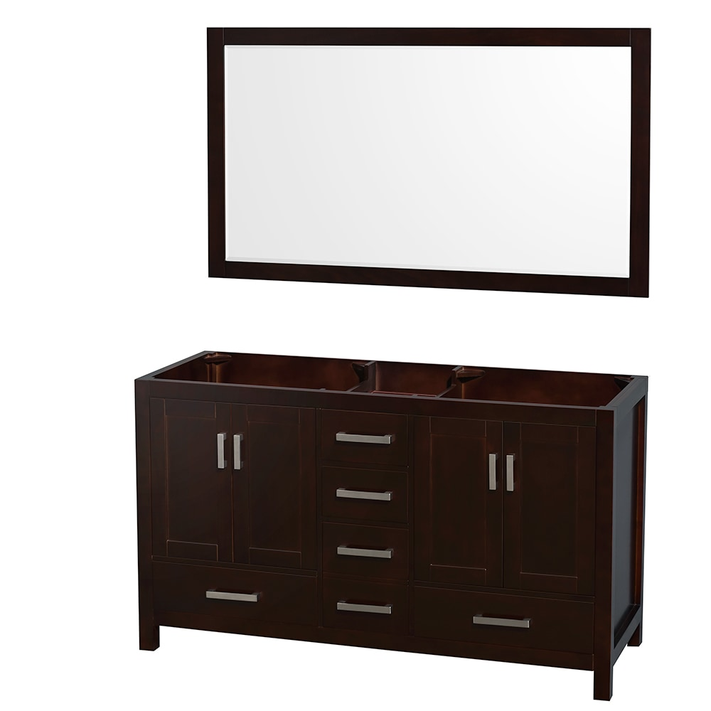 Wyndham collection sheffield 60 inch double bathroom vanity with 58 inch mirror countertop and for 58 inch double bathroom vanity