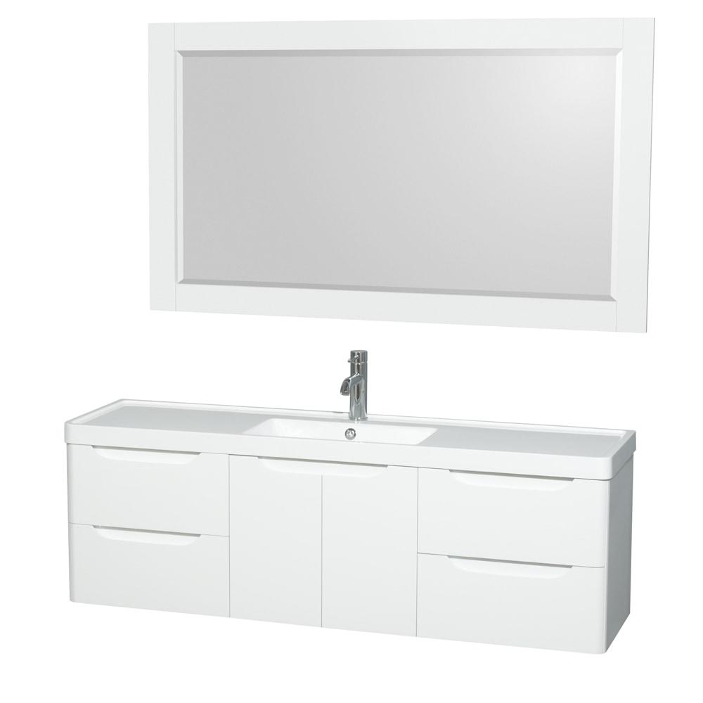 "58 Bathroom Vanity Single Sink: Wyndham Collection Murano 60"" Single Bathroom Vanity Set"