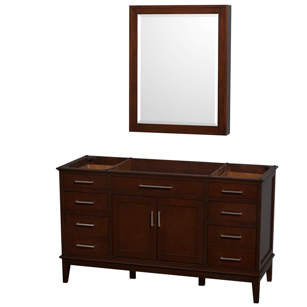 Wyndham Collection Hatton 60 inch Single Bathroom Vanity with ...
