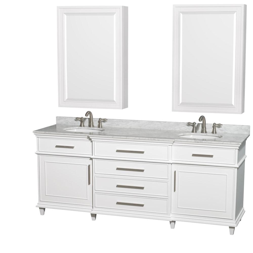 Wyndham Collection Berkeley 80 Double Bathroom Vanity Set With 24 Medicine Cabinets