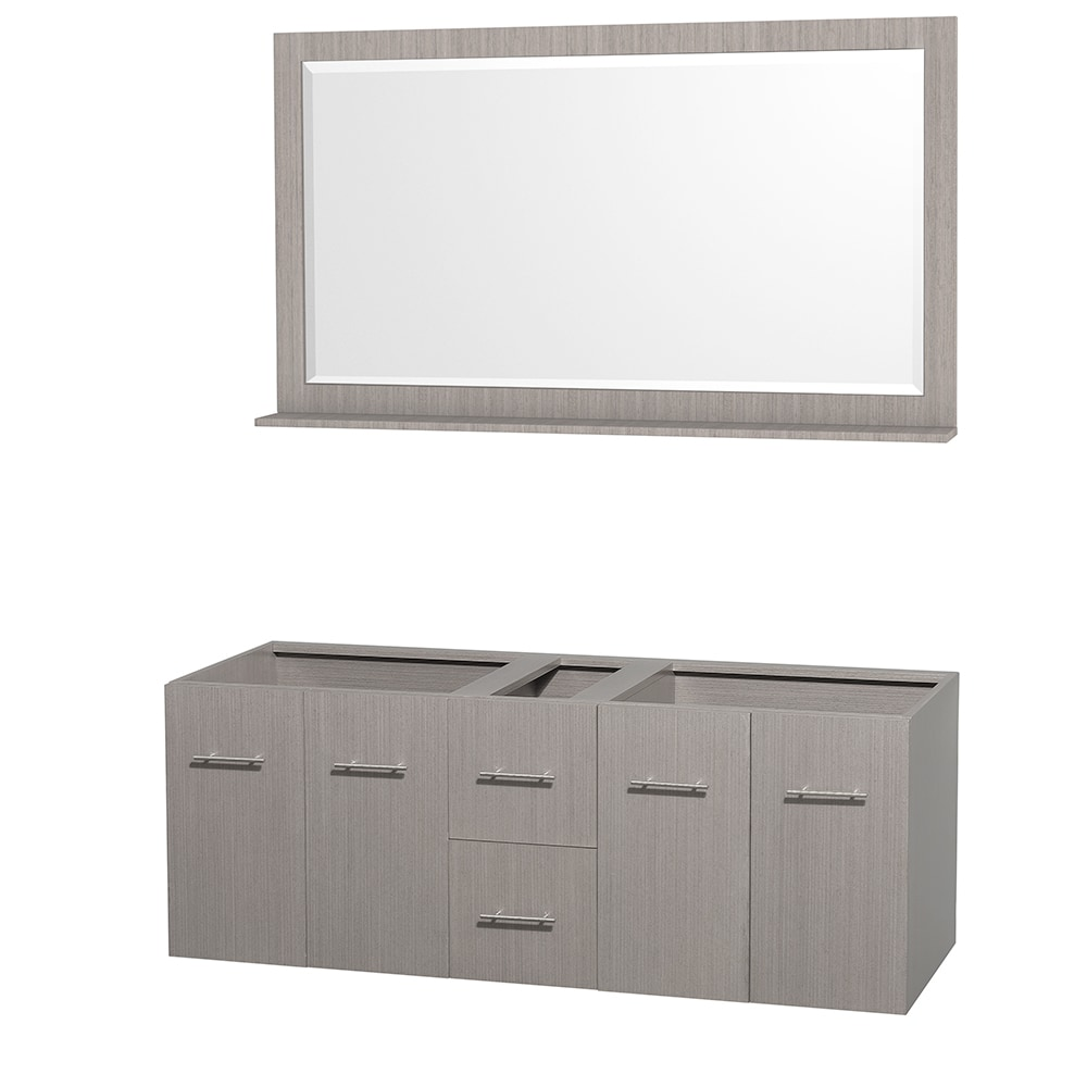 Wyndham collection centra 60 inch double bathroom vanity with 58 inch mirror countertop and for 58 inch double bathroom vanity