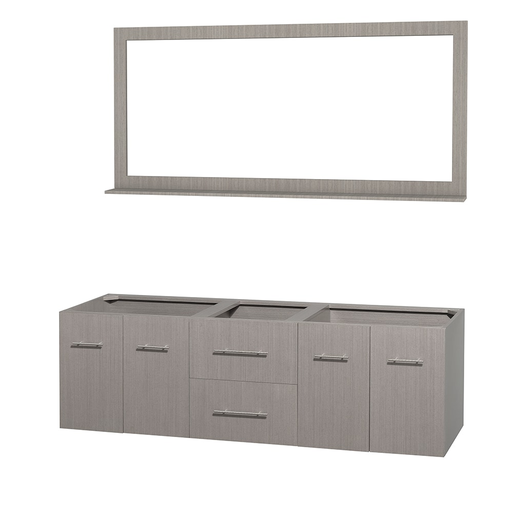 Wyndham Collection Centra 72 Inch Double Bathroom Vanity With 70 Inch Mirror Countertop And