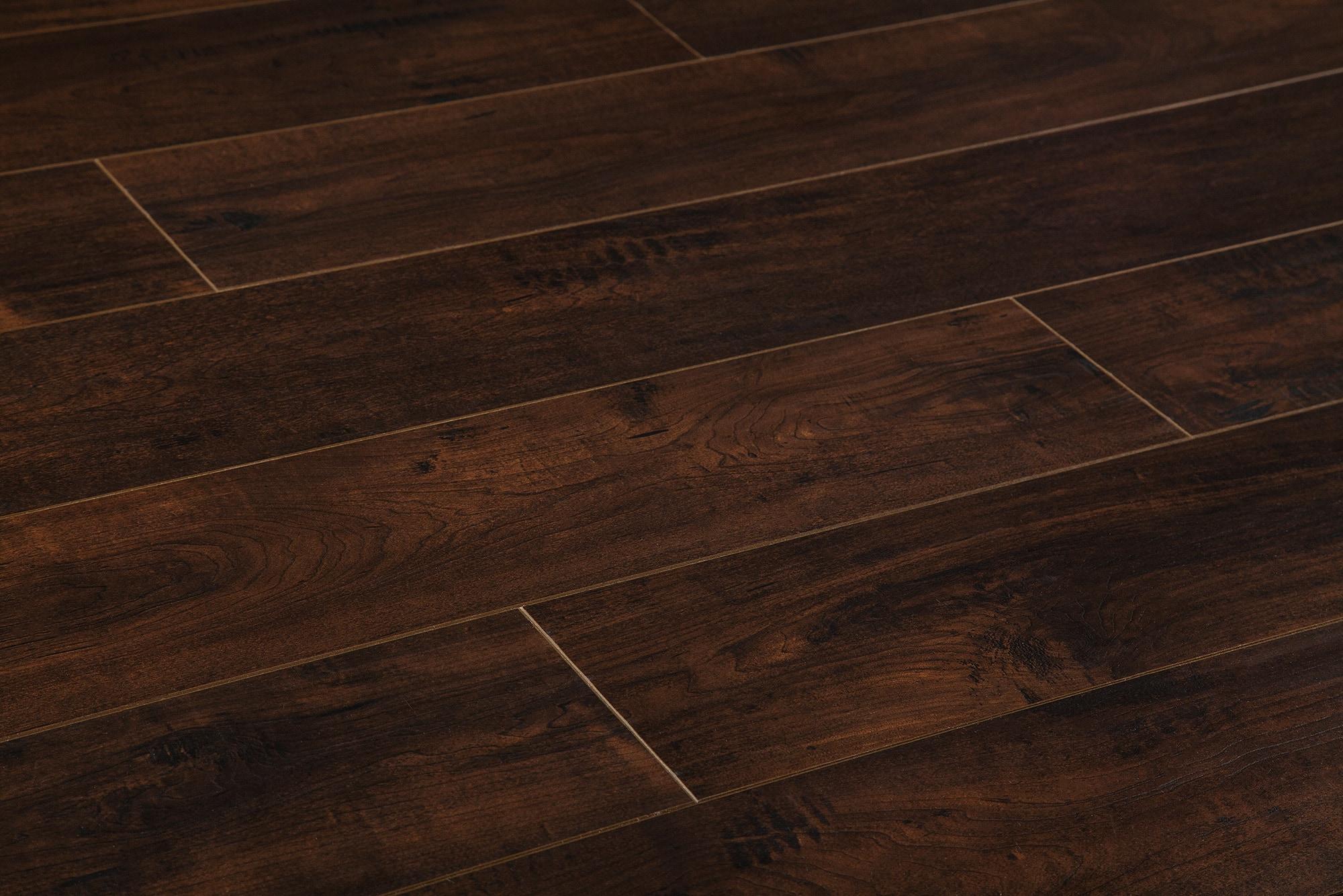 8mm Modern Wide Plank Collection Dark Chocolate Brown