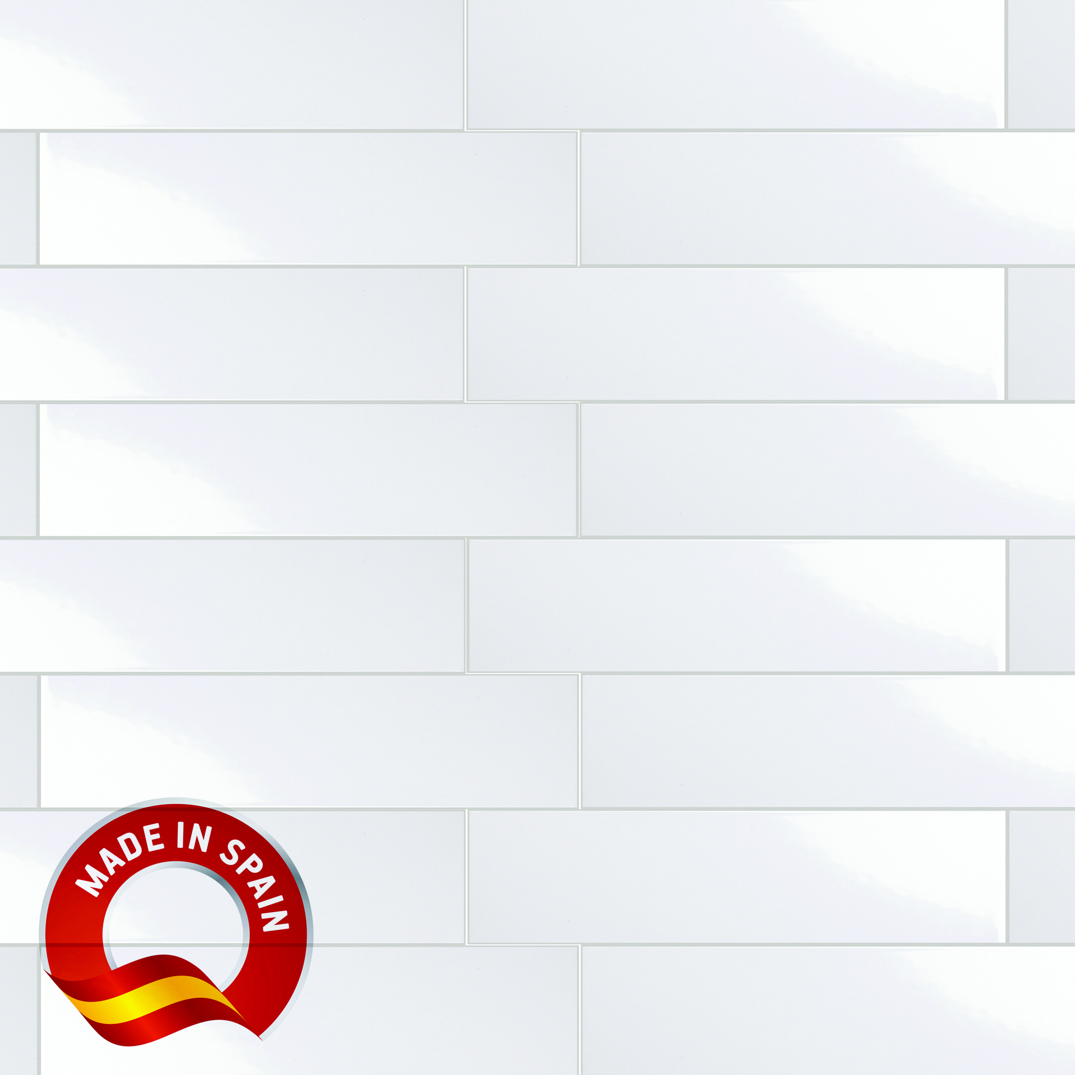 Flat Bianco / 4x16 / Glossy Lampros 0