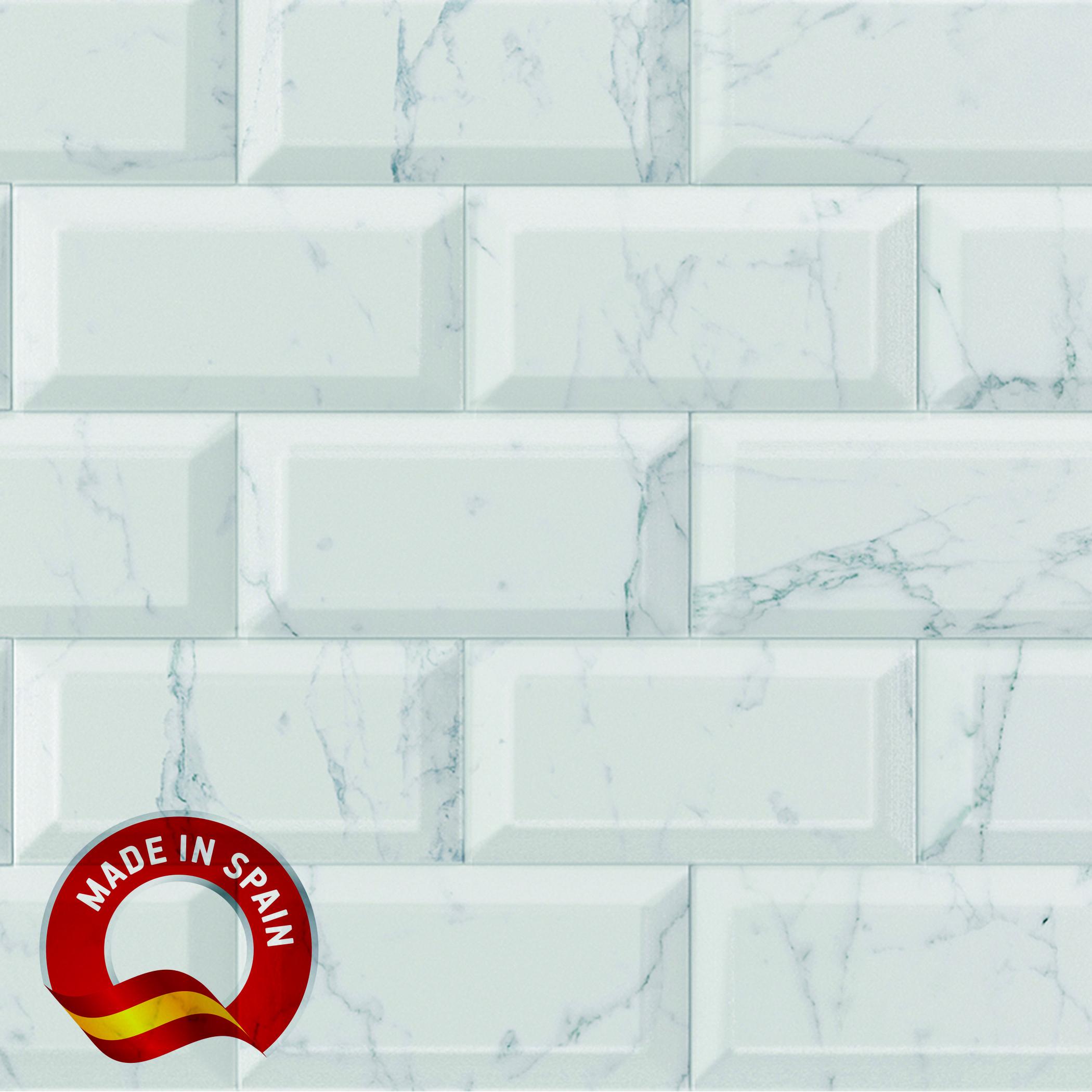 Bisel Carrara / 4x8 / Glossy Lampros 0