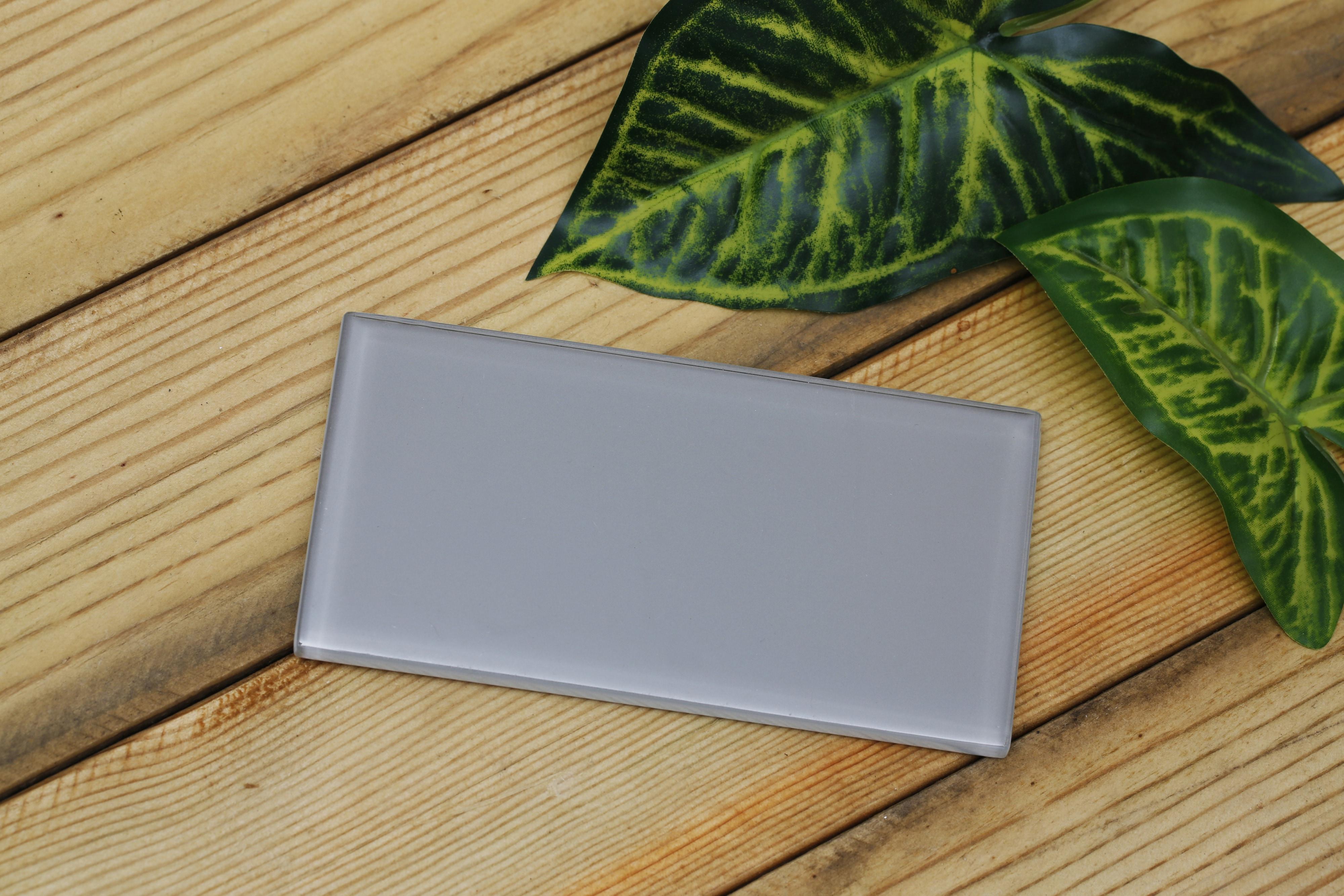 Light beige / 3 in. x 6 in. x 0.33 in. Subway Glass Tile 0