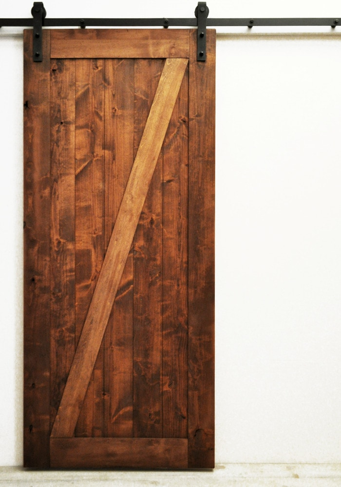 Dogberry Collections Traditional Z Double Barn Door Alder