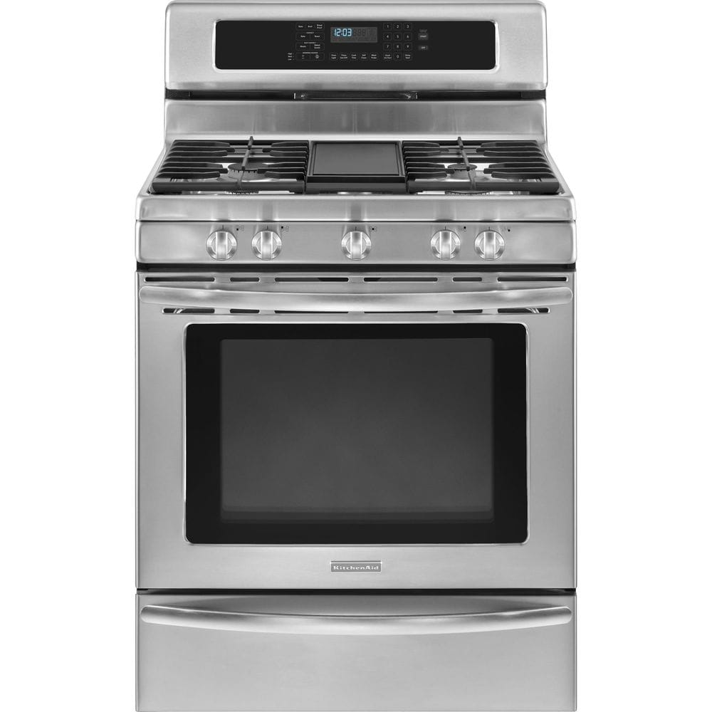 Kitchenaid Kgrs308xss 30 Stainless Steel Gas Range 5 1 Cu