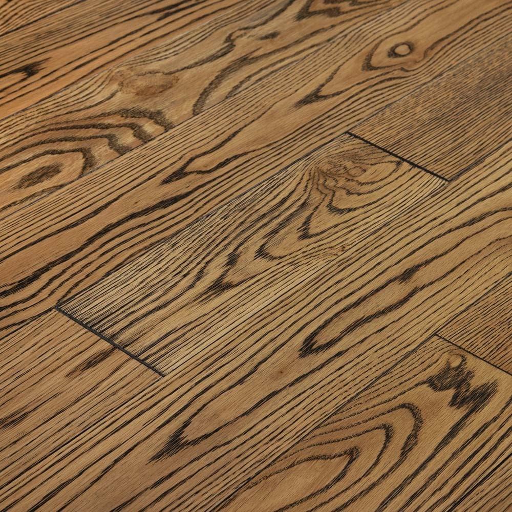 "Polar / Oak / 5"" / Wirebrushed Hardwood - Theodore American Oak Collection 0"