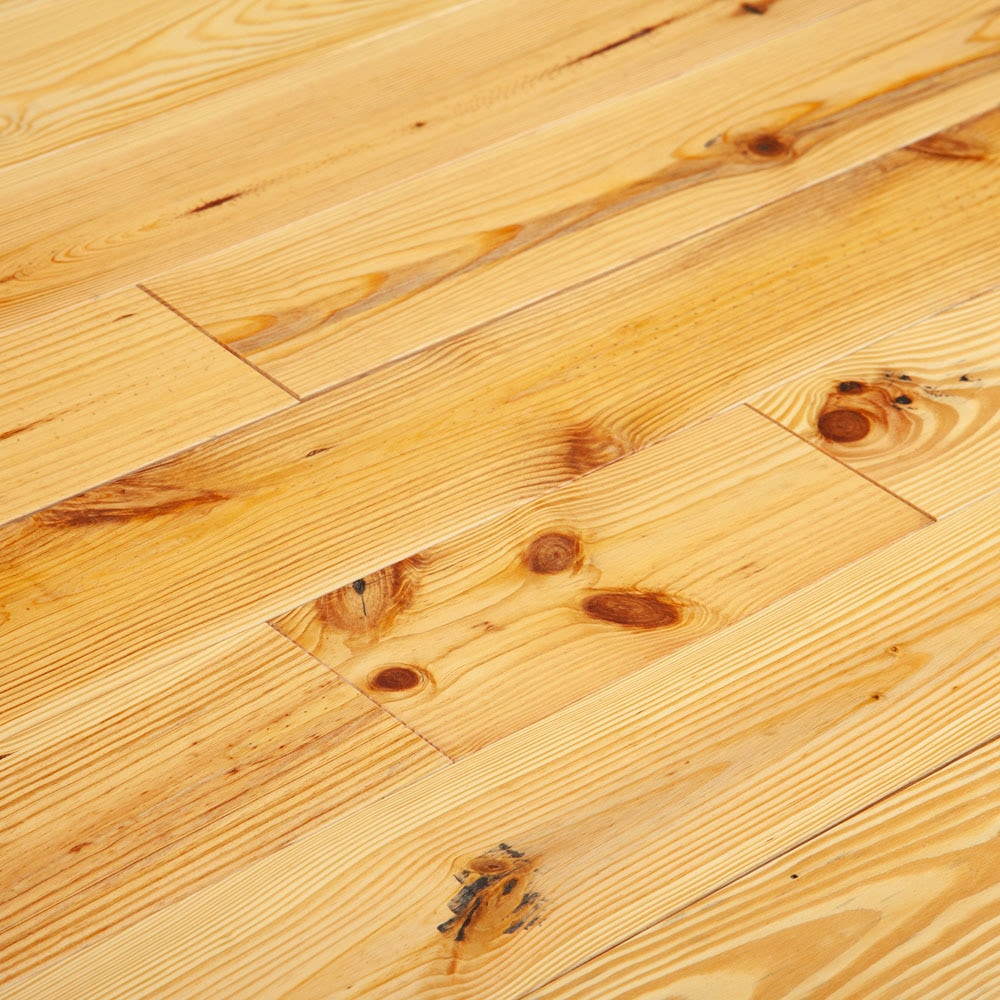 "Natural / Pine / Wirebrushed / 5 1/8"" Hardwood - American Pine Wirebrushed Collection 0"