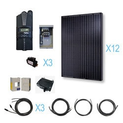 Renogy - 3000 Watt 48 Volt Monocrystalline Solar Cabin Kit