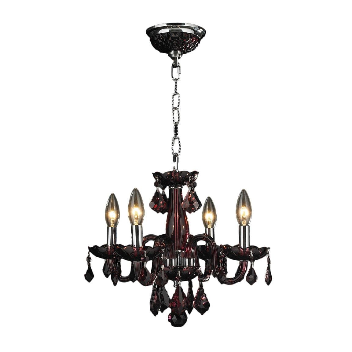 Worldwide Lighting Corporation Chandelier Clarion Collection Polished Chrome Indoor Premium 30 Leaded Crystal 4 W83100c16 Cy