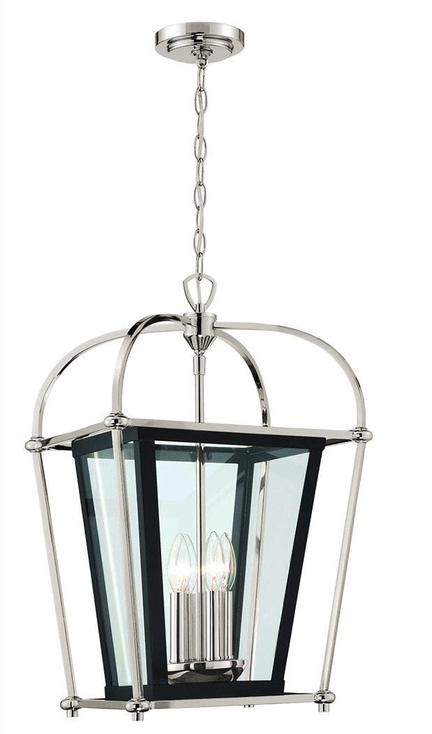 Langdon mills langdon mills baron foyer or island pendant chandelier polished nickel 4 light pendant chandelier