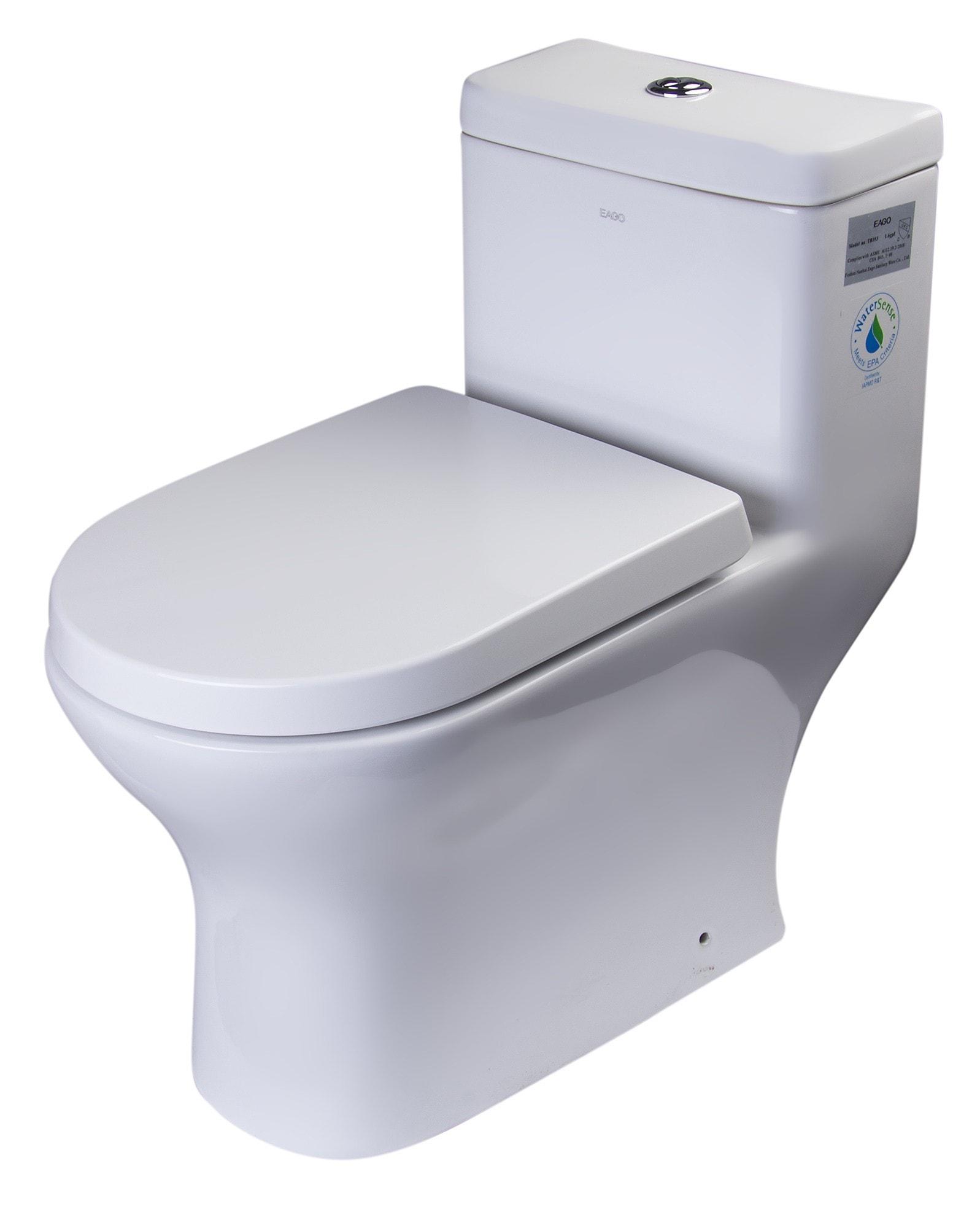 One Piece Elongated Toilet / White / Elongated / Dual flush (0.8gpf / 1.6gpf) / 26 3/4 x 14 1/8 x 27 1/8 / TB353 TB353 Dual Flush Eco-Friendly High Efficiency Low Flush Toilet 0