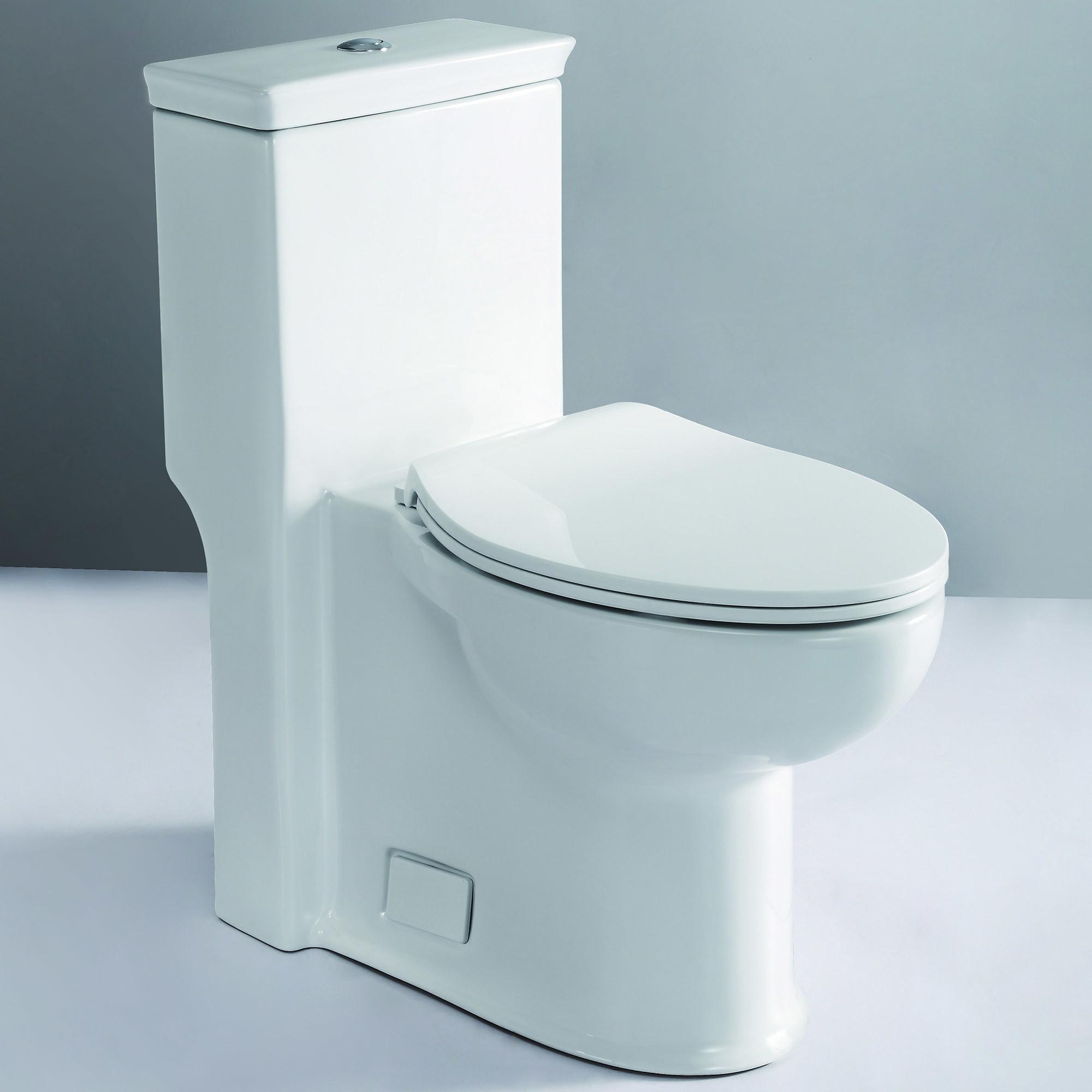 One Piece Elongated Toilet / White / Elongated / 1.28 GPF / 28 1/2 x 14 1/2 x 30 1/2 / TB377 TB377 ADA Compliant High Efficiency One Piece Single Flush Toilet 0