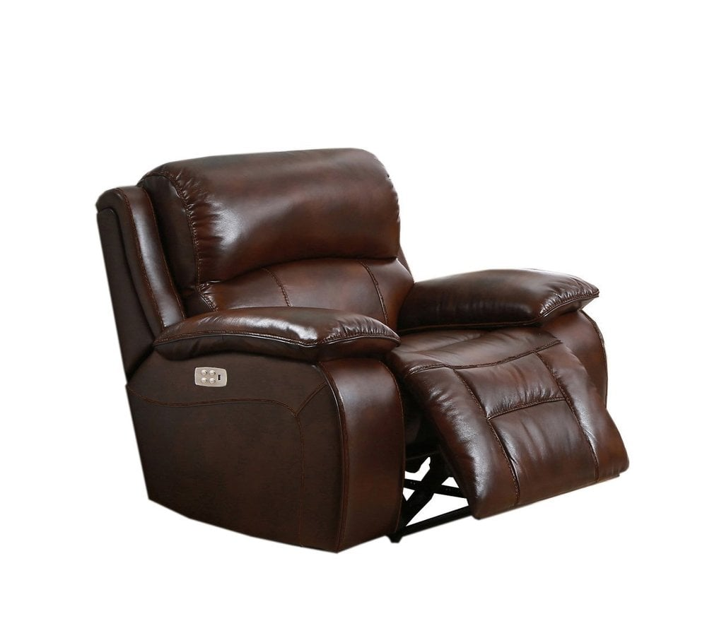 Amax Leather Quot Westminster Ii Quot Leather Power Recliner With
