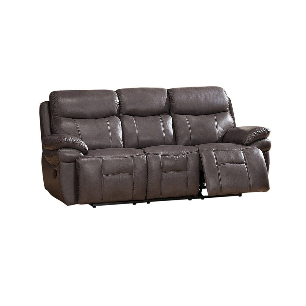 Amax Leather Summerlands I Leather Reclining Sofa Smoke Grey  ~ Leggett And Platt Leather Recliner Sofa